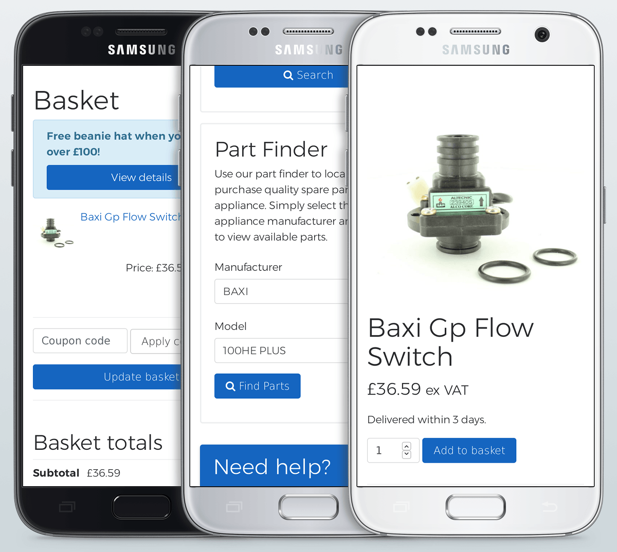 Smarter Components website on mobile